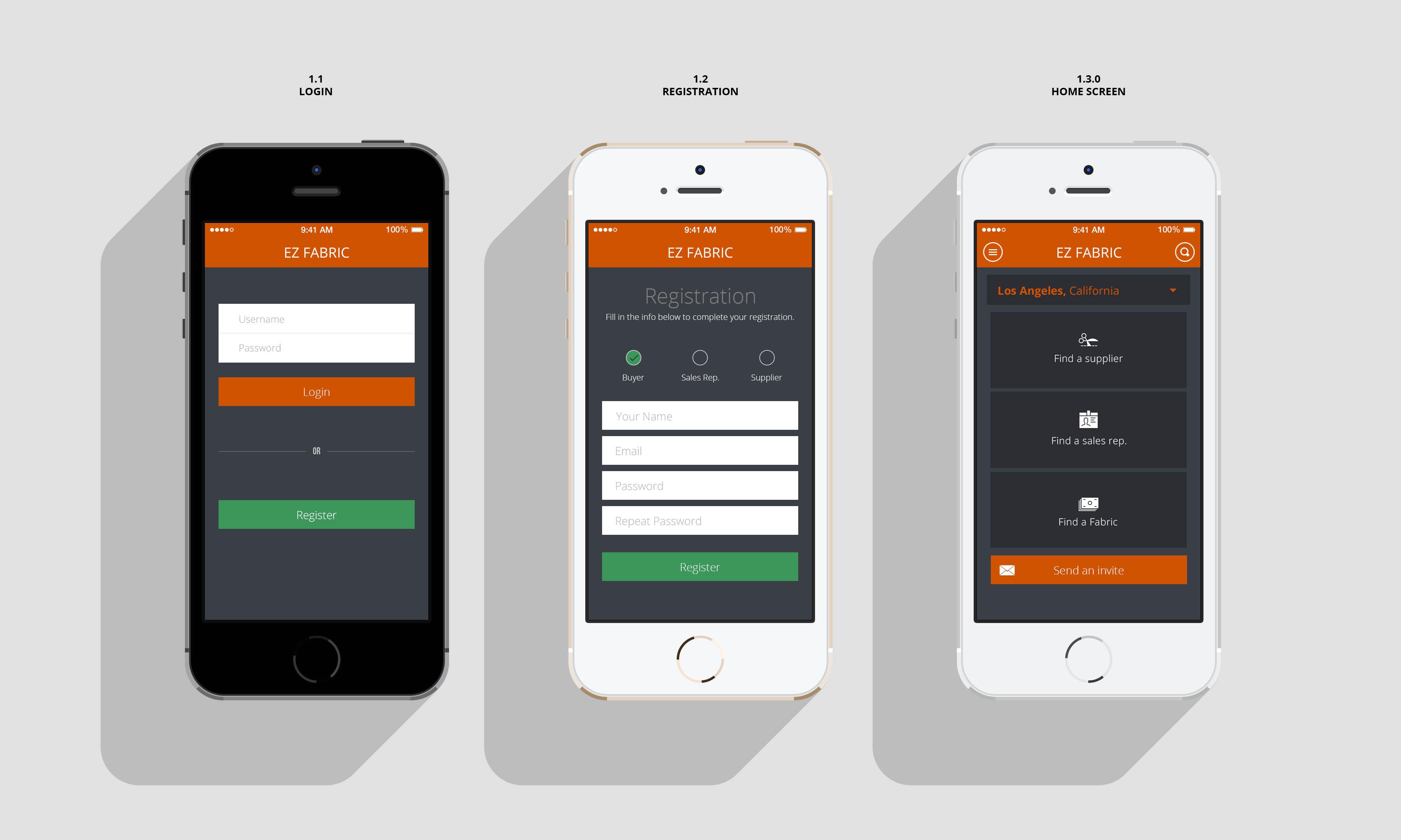EZ Fabric: Mobile App UX, UI Design | Brandhorse UXBrandhorse UX